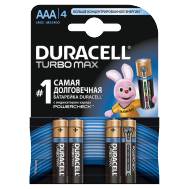 Батарейки Duracell AAA (LR03) MX2400 Turbo 4шт.