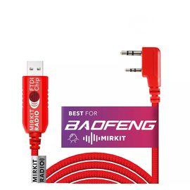 """Кабель USB Mirkit FTDI Model 3 Премиум Красный для программирования раций с разъёмом """"K2"""" Baofeng"""
