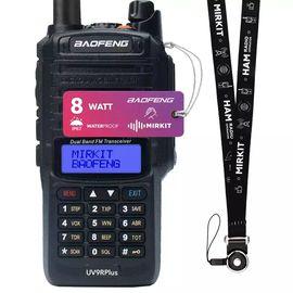Рация Baofeng UV-9R Plus MK1, 8W, Li-ion 1800 мАч UHF/VHF, IP67 + Ремешок на шею Mirkit