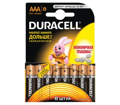Батарейки Duracell AAA (LR03) MN2400 8 шт., фото 1
