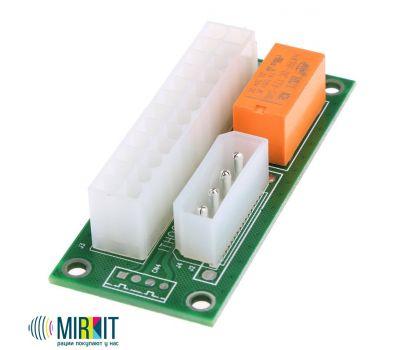 Адаптер синхронизатор блоков питания Mirkit ATX 24 Pin to Molex 4 pin (ADD2PSU), фото 2