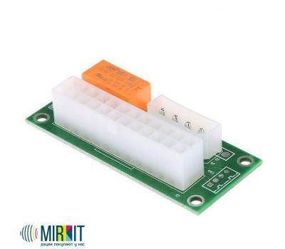 Адаптер синхронизатор блоков питания Mirkit ATX 24 Pin to Molex 4 pin (ADD2PSU), фото 1