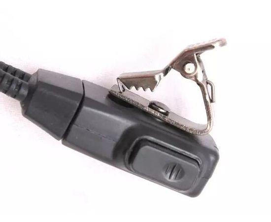 Гарнитура скрытого ношения Mirkit EMC-6 с выносной кнопкой на палец для раций с разъемом 2 pin (Baofeng / Kenwood)