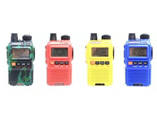Рация Baofeng UV-3R+ (синяя, зеленая, красная, желтая)