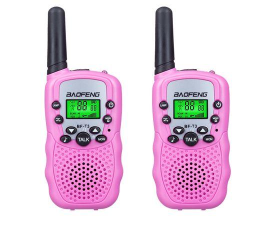 Комплект из двух раций Baofeng BF-T3 UHF Pink